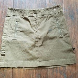 Ideology Olive  Mini Skirt